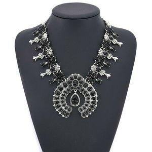 Jewelry - Nwt New:Southwestern Black Squash Blossom Necklace